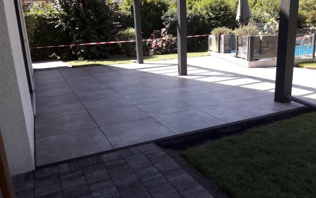 Keramikplatten Beton-Optik 80x80x2cm